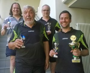 Vereinsmeisterschaft der Tischtennis-Abteilung im Jahr 2018 – die Sieger