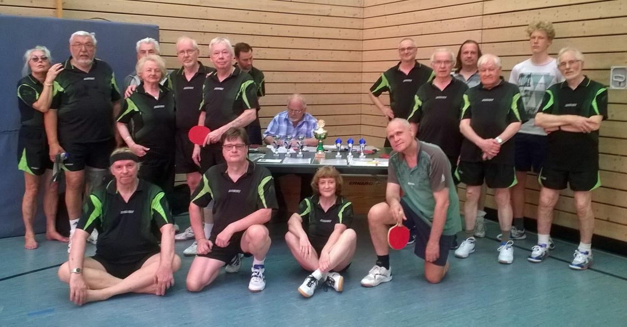 Vereinsmeisterschaft der Tischtennis-Abteilung im Jahr 2018